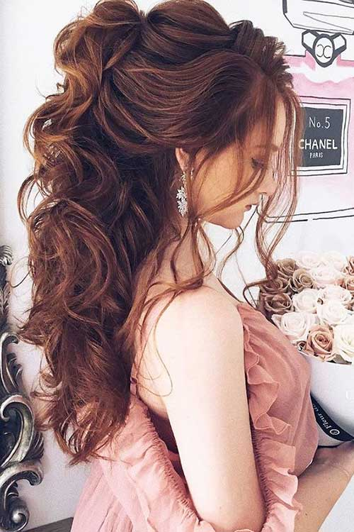 Long Half Updo Hairstyles