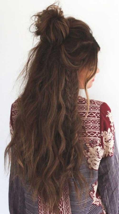 Half Bun Hairstyles-7