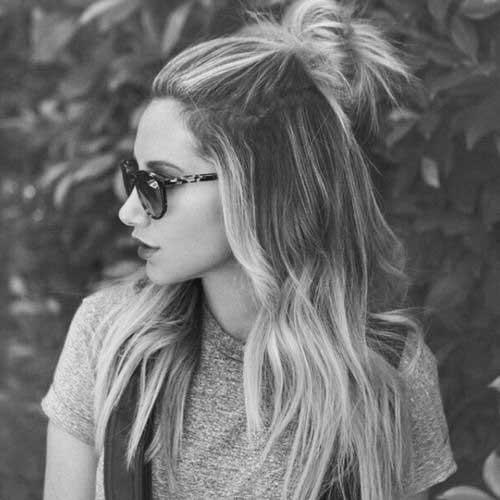 Half Bun Hairstyles-9