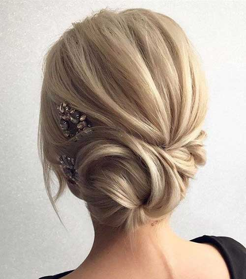 Classy Long Hair Buns for Special Days