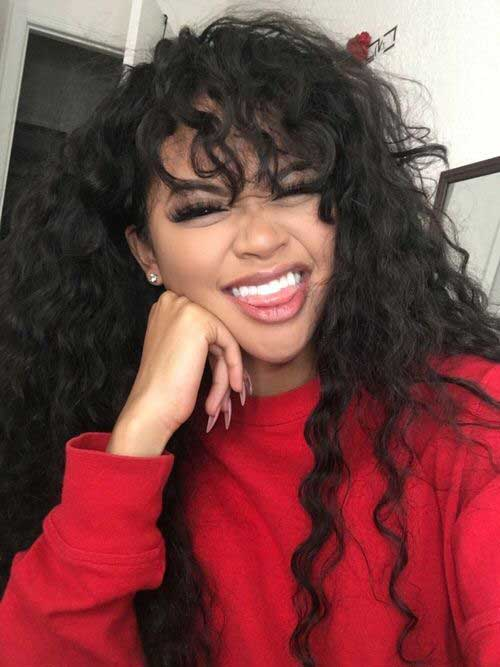 Curly Hairstyles with Bangs-10