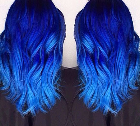 Blue Hair Color Idea, Hair Color Blue Fox