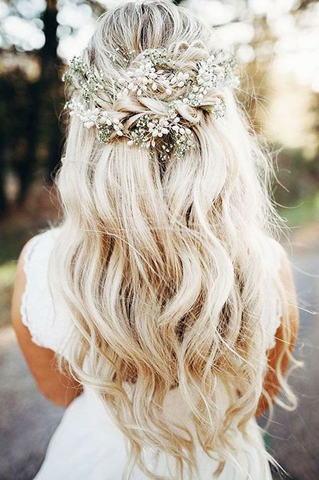 Beautiful Wedding Hairtyle, Wedding Hair Down Flower