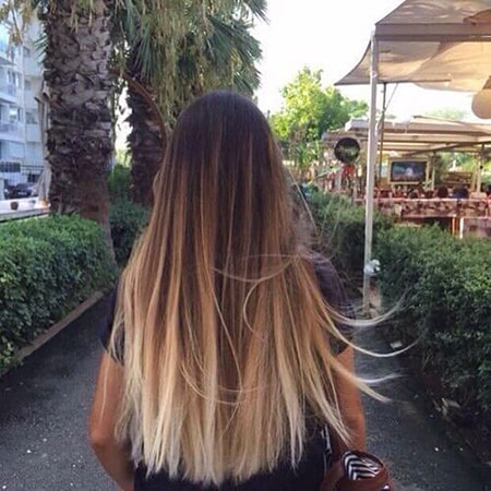 Ombre Straight Hair, Hair Blonde Balayage Straight