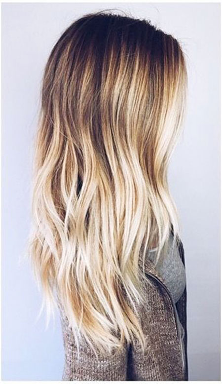 Hair Blonde Balayage Ombre
