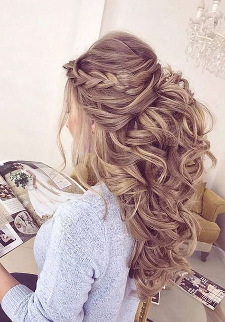 long hair down wedding styles 30 beautiful wedding hairstyles hairstyles and haircuts 1296 | 10 Half Up Half Down Curly Hairtyles 467