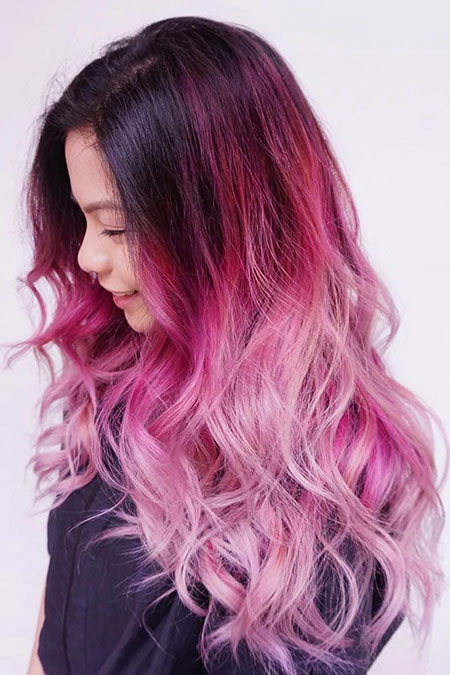 Hair Ombre Pink Color