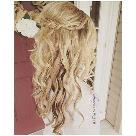 Hair Wedding Up Half