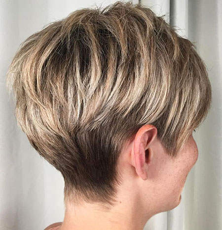 Layered Blonde Short Pixie