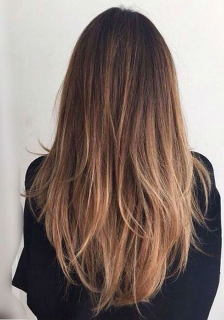 Hair Balayage Straight Makeup