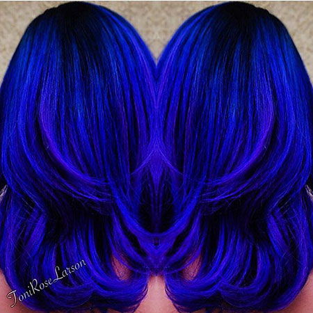 Hair Blue Color Toni