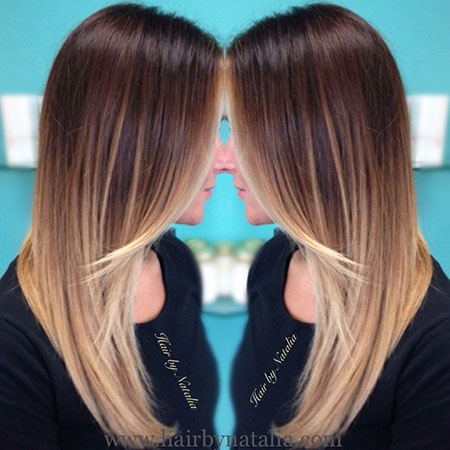 Hair Balayage Blonde Straight