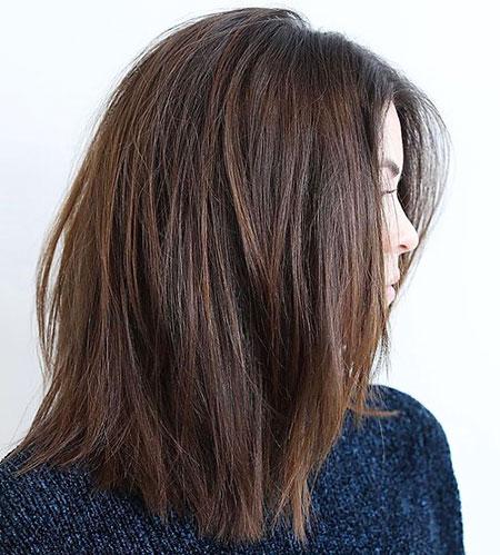 Hair Thick Medium Length