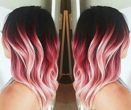 Hair Pink Gold Ombre