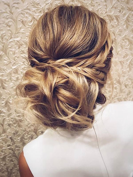 Hair Updo Long Bridal