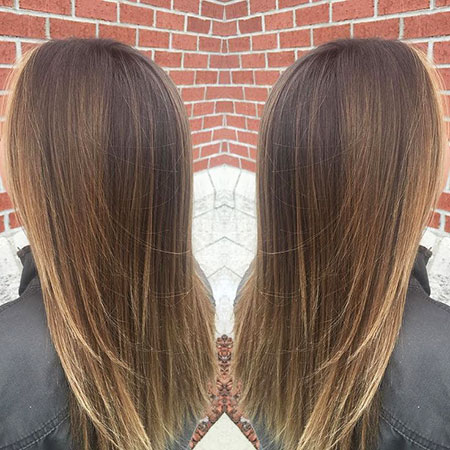 Balayage Hair Straight Brunette