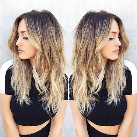 Hair Blonde Balayage Color