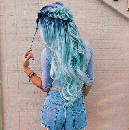 Hair Blue Pastel Mermaid