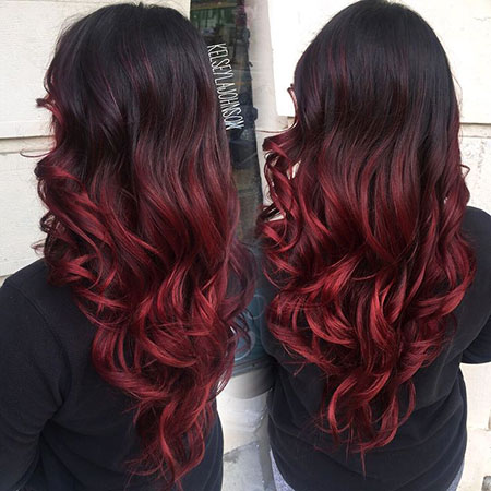 Red Hair Ombre Dark