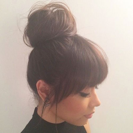 Hair Bangs Bun Dos