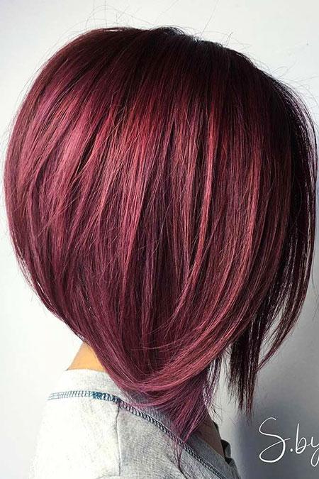A Line Hair Cut, Bob Hair Red Big