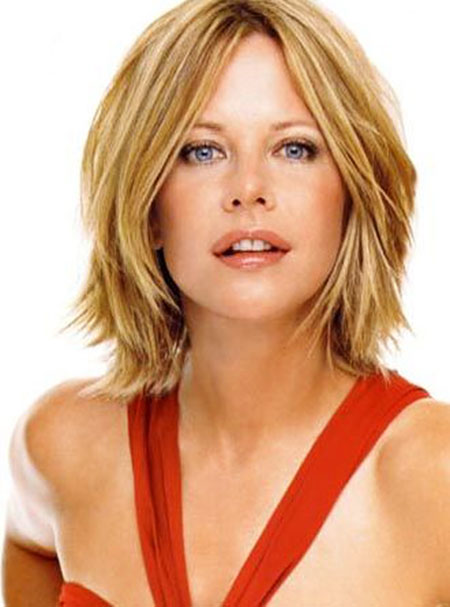 Bob with Layers, Meg Ryan Hair Bob