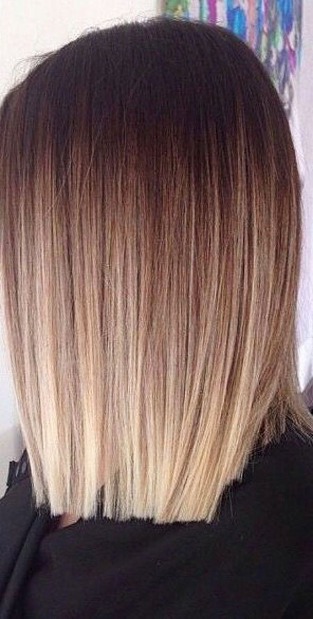 Long Bob Ombre, Hair Balayage Ombre Blond