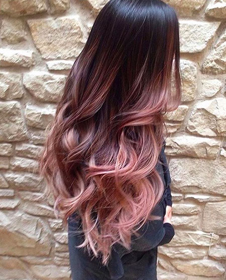 Rose Gold Ombre, Gold Hair Rose Colour