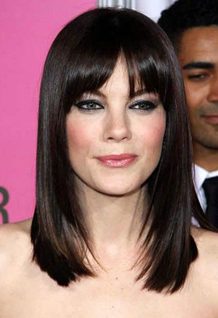 28 Medium Length Haircuts with Bangs | Hairstyles and Haircuts | Lovely-Hairstyles.COM