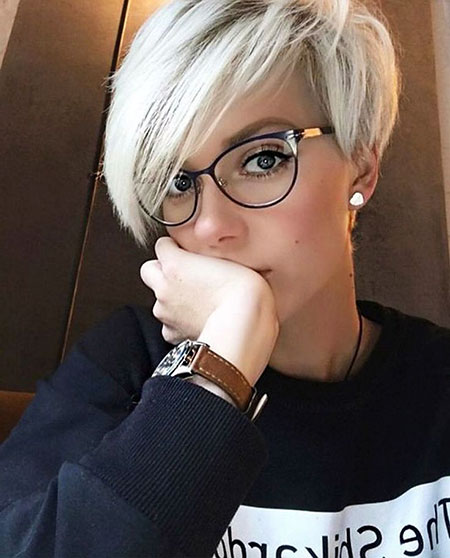 Pixie Hair Gray Layered