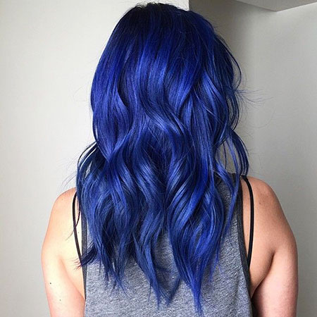 Hair Blue Color Purple