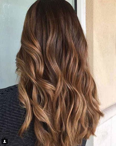 Hair Balayage Color Caramel