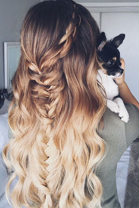 Hair Ombre Braid Fishtail