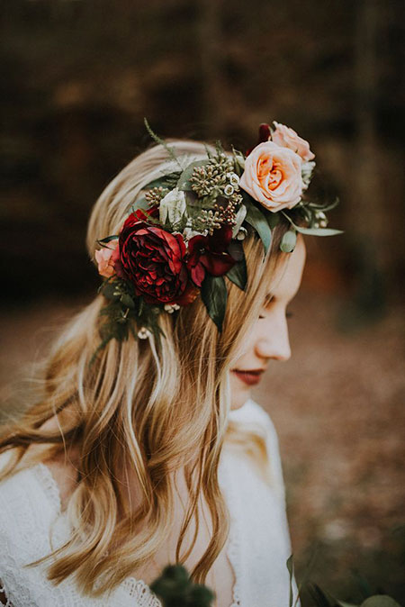 Wedding Flower Hair Romantic