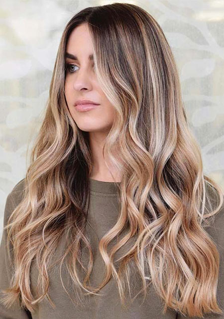 Beach Waves, Hair Balayage Year Women