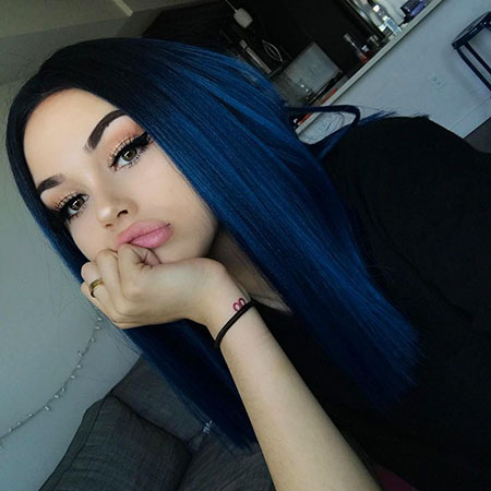 Midnight Hair Color, Hair Blue Makeup Color