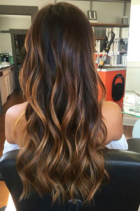 Caramel Ombre, Hair Balayage Caramel Dark