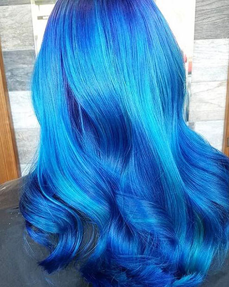 Vibrant Hair Dye, Hair Blue Color Ombre