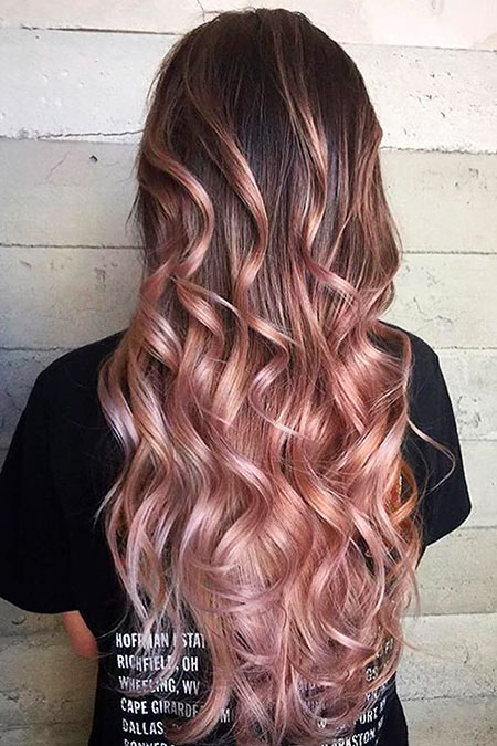 Rose Gold, Hair Color Gold Rose