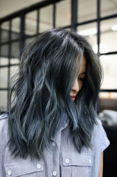 Hair Blue Color Light