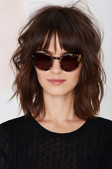 Wavy Medium Length Bangs