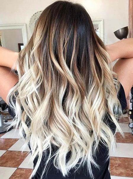 Hair Blonde Length Wavy