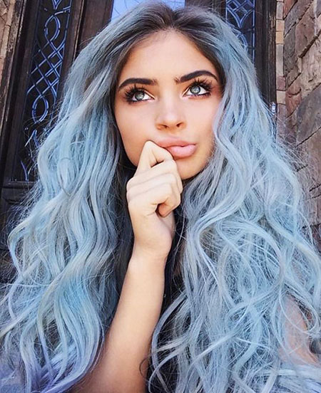 Hair Blue Color Pastel