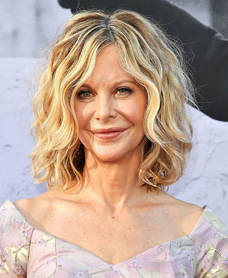 Hair Meg Ryan Wavy