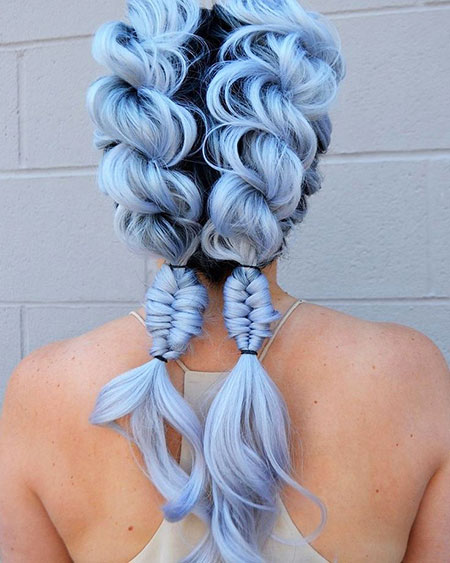 Hair Braids Blue Up