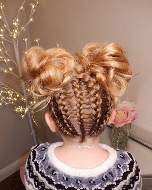 Braids For Little Girl With Short Hair