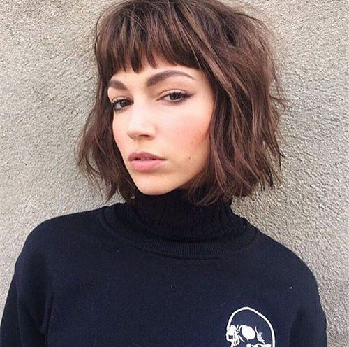 Short Layered Bob Hairstyles With Bangs: 55 Best Short Layered Bob With Bangs