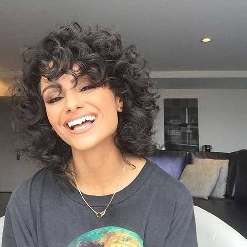 Hairstyles for Short Big Curly Hair