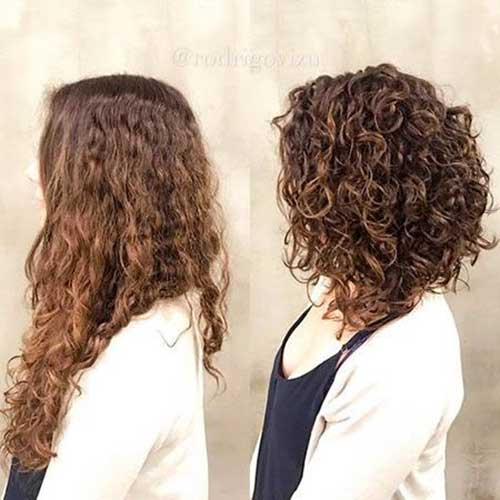 Inverted Hairstyles for Short Curly Hair