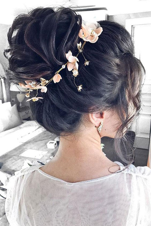 Floral Wedding Hair Bun-10